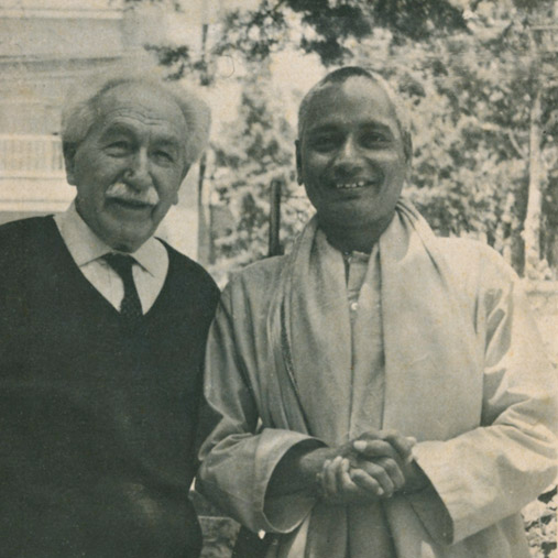SiteFiles/photos/Swami Venkatesananda With Hugo Bergmann