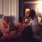 With Swami Vishnu and Swami Hrdayananda