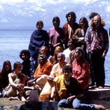 Swami Venkatesananda and Swami Vishnu with more Teachers and Students