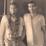 Swami Venkatesananda with the Master and Swami Chidananda & Swami Krishnananda