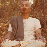 Swami Venkatesananda Giving A Yoga Class In The Woods