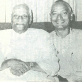 Swami Venkatesananda with former President of India, V. V. Giri.